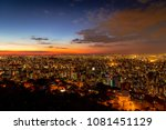 colorful sunset in belo... | Shutterstock . vector #1081451129