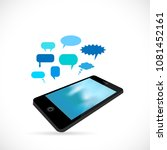 illustration of a phone and... | Shutterstock .eps vector #1081452161