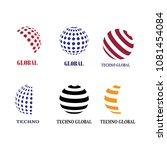 logo technology global | Shutterstock .eps vector #1081454084