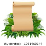 old rolled up paper scroll on... | Shutterstock .eps vector #1081460144