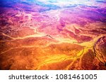 aerial view of outback... | Shutterstock . vector #1081461005