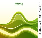 glossy green abstract wavy... | Shutterstock .eps vector #1081462451