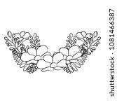 grunge nature flower tropical... | Shutterstock .eps vector #1081466387
