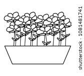 line nature flower exotic... | Shutterstock .eps vector #1081481741