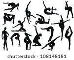 Gymnastics silhouette - vector