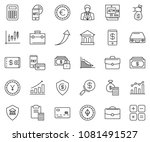 thin line icon set  ... | Shutterstock .eps vector #1081491527