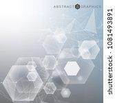 hexagonal abstract background.... | Shutterstock .eps vector #1081493891