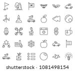 thin line icon set   saint... | Shutterstock .eps vector #1081498154