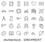 thin line icon set   office... | Shutterstock .eps vector #1081498247