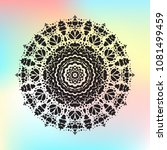 beautiful  pattern with indian... | Shutterstock . vector #1081499459