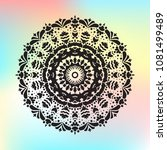 beautiful  pattern with indian... | Shutterstock . vector #1081499489