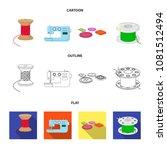 thread reel  sewing machine ... | Shutterstock .eps vector #1081512494
