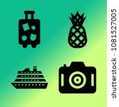 vector icon set about travel... | Shutterstock .eps vector #1081527005
