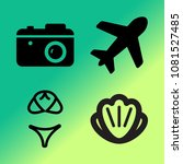 vector icon set about travel... | Shutterstock .eps vector #1081527485