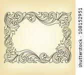 vector vintage border frame... | Shutterstock .eps vector #108152951