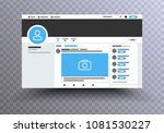 browser  interface twitter  ... | Shutterstock .eps vector #1081530227