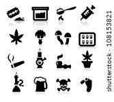 drugs icons   Shutterstock .eps vector #108153821