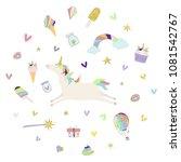vector illustration of unicorn... | Shutterstock .eps vector #1081542767