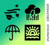 vector icon set about weather... | Shutterstock .eps vector #1081545035