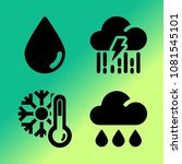 vector icon set about weather... | Shutterstock .eps vector #1081545101