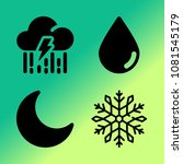 vector icon set about weather... | Shutterstock .eps vector #1081545179