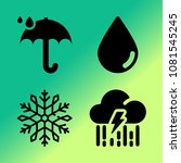 vector icon set about weather... | Shutterstock .eps vector #1081545245