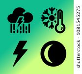 vector icon set about weather... | Shutterstock .eps vector #1081545275