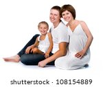 young family with a child on a...   Shutterstock . vector #108154889