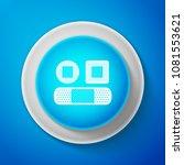 white set bandage plaster icon... | Shutterstock .eps vector #1081553621