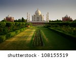 taj mahal from the garden side | Shutterstock . vector #108155519