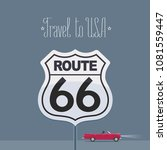 visit usa image with route 66... | Shutterstock .eps vector #1081559447