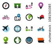 solid vector ixon set   compass ...   Shutterstock .eps vector #1081561085