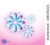 flower vector background | Shutterstock .eps vector #108156221