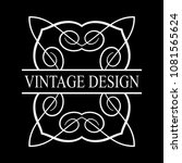 vintage ornamental label logo.... | Shutterstock .eps vector #1081565624