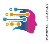 digital head logo. human face... | Shutterstock .eps vector #1081569371