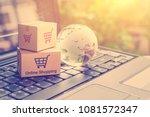 online shopping   retail... | Shutterstock . vector #1081572347