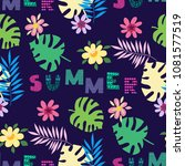 beautiful seamless pattern with ... | Shutterstock .eps vector #1081577519