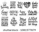 vector set of hand lettering... | Shutterstock .eps vector #1081577879
