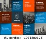 company profile template  ...   Shutterstock .eps vector #1081580825