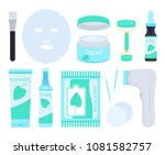 facial skin care products.... | Shutterstock .eps vector #1081582757