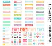 design work planner stickers... | Shutterstock .eps vector #1081594241