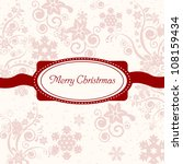 merry christmas for your... | Shutterstock . vector #108159434