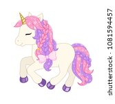 cute unicorn illustration.... | Shutterstock .eps vector #1081594457