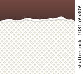 brown ripped paper vector with... | Shutterstock .eps vector #1081595309