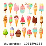full cartoon ice cream... | Shutterstock .eps vector #1081596155