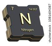 nitrogen element symbol from... | Shutterstock . vector #1081604387