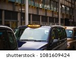 london black cabs lined up on...   Shutterstock . vector #1081609424