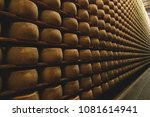 a cheesemaker controls the... | Shutterstock . vector #1081614941