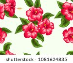 seamless pattern with bright... | Shutterstock .eps vector #1081624835