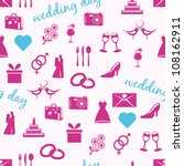 wedding seamless pattern | Shutterstock .eps vector #108162911